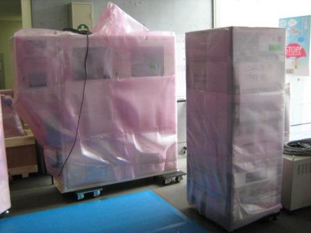 独立行政法人 クリーンルーム内装置の施設間移動作業