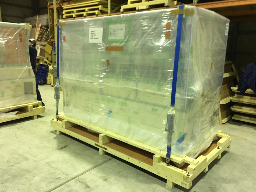 半導体関連装置の海外向け梱包