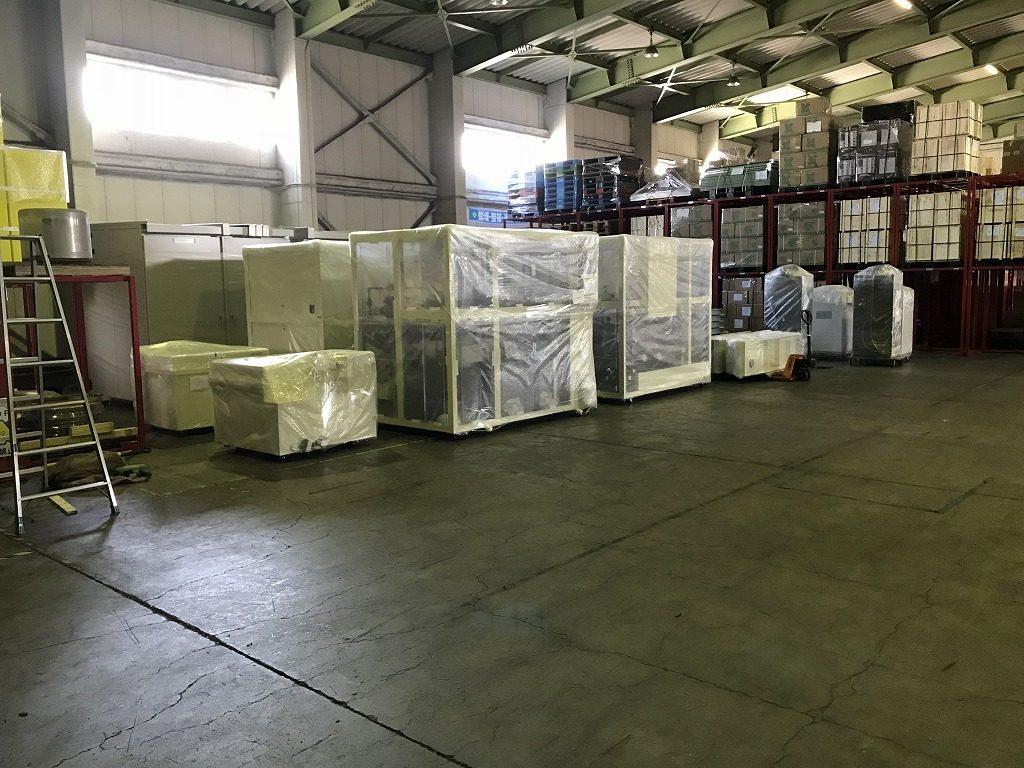 半導体製造装置 倉庫保管 20200516